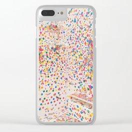 Yayoi Kusama Obliteration Room Clear iPhone Case