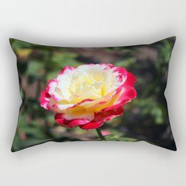 Rose With Colorful Tips Rectangular Pillow