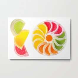 multicolored chewy gumdrops sweets Metal Print