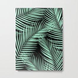 Palm Leaves - Mint Cali Vibes #1 #tropical #decor #art #society6 Metal Print
