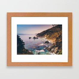 Big Sur Pacific Coast Highway Framed Art Print