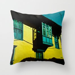 THE BALCONY IN CANDELARIA Throw Pillow