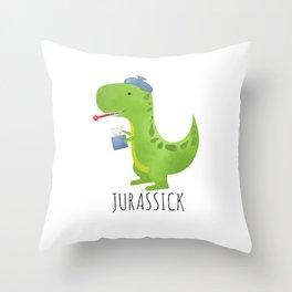 Jurassick Throw Pillow