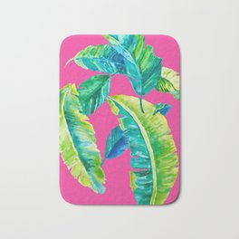 Hot Pink Palms Bath Mat