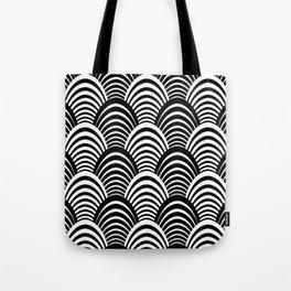 Black and White Art Deco Pattern Tote Bag