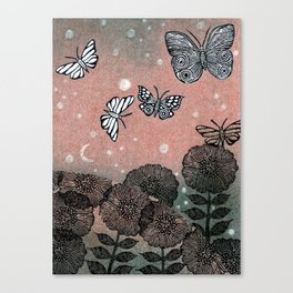 Night Garden (2) Canvas Print