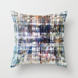 Contrasted, sorted; contorted source. Throw Pillow