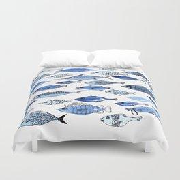 Aquarium blue fishes Duvet Cover