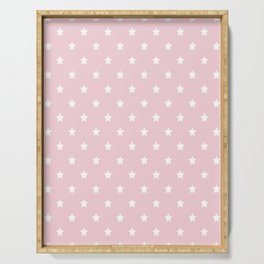 Pastel Pink Star Pattern Serving Tray