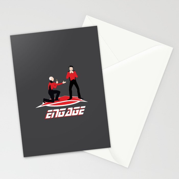 Long Trek to Forever Stationery Cards