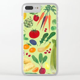 Fruits and Veggies Clear iPhone Case