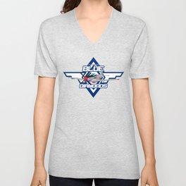 P15-D Mustang Blue Diamonds Unisex V-Neck