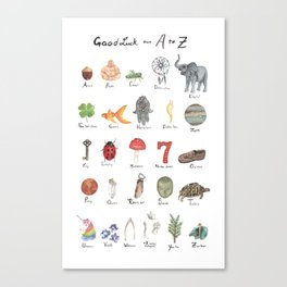 Good Luck from A - Z Canvas Print