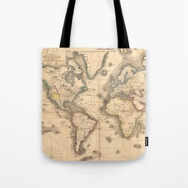 Vintage Map of the World (1850) Tote Bag