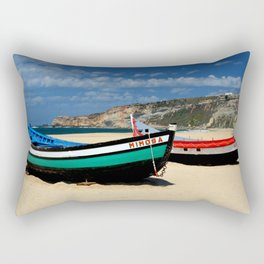 Colorful fishingboats Rectangular Pillow