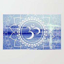 Om Mandala : Blue Waters Rug
