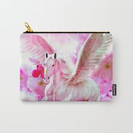 HORSE PINK FANTASY CHERRY BLOSSOMS Carry-All Pouch