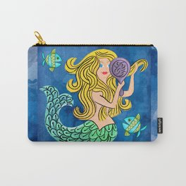 Storybook Golden Mermaid Carry-All Pouch