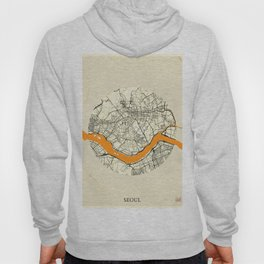 Seoul Map Moon Hoody