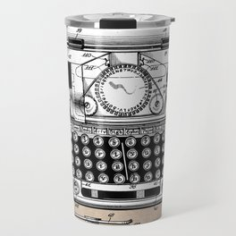 patent art typewriter Travel Mug