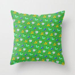 Ocarina of Time Pattern / Legend of Zelda Throw Pillow