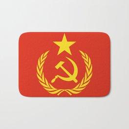 Russian Communist Flag Hammer & Sickle Bath Mat