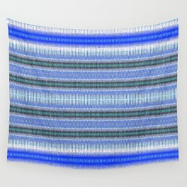 Woven Blue Wall Tapestry
