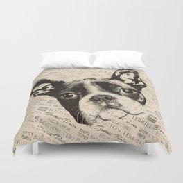 Boston Terrier dog Duvet Cover