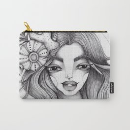 JennyMannoArt Graphite Drawing/Serena the mermaid Carry-All Pouch