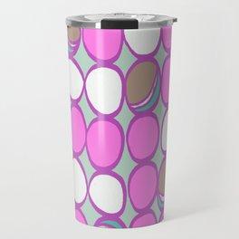 Retro Macarons Mint Background Travel Mug