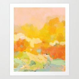 abstract spring sun Art Print