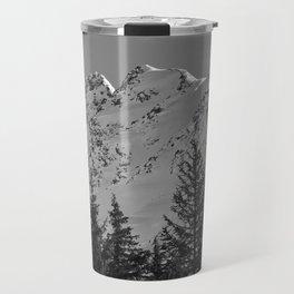 Gwin's Winter Vista - B & W Travel Mug