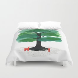 Man & Nature - The Tree of Life Duvet Cover