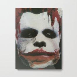 The Joker Mural Metal Print