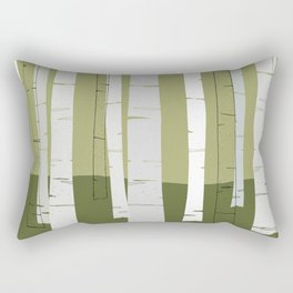 Quiet Birches Rectangular Pillow