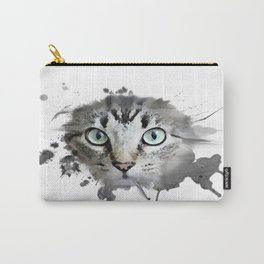 Cat Eyes Watercolor Carry-All Pouch