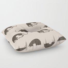 Blockprint Cheetah Floor Pillow