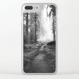 Magical Washington Rainforest Black and White Clear iPhone Case