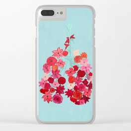 Simply Breathe - Lungs For Whitney Clear iPhone Case
