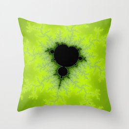 Fractal Mandelbrot Green Throw Pillow