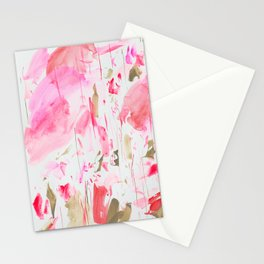 Fluorescent Red Stationery Cards