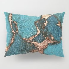 AQUA & GOLD GEMSTONE Pillow Sham