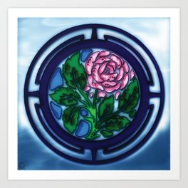 Glass Rose Art Print