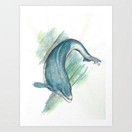 Basilosaurus Art Print