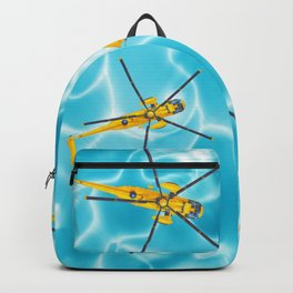 westland yellow helicopter w-surfer Backpack