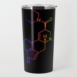 LSD color in black Travel Mug