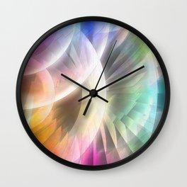 Multicolored abstract no. 60 Wall Clock