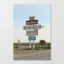 Route 66 - Pony Soldier Motel Canvas Print
