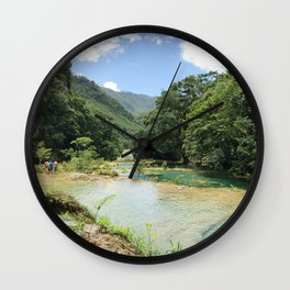 Semuc Champey Wall Clock