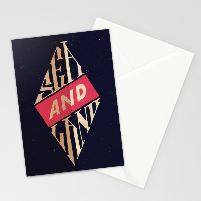 Sea and Land Stationery Cards